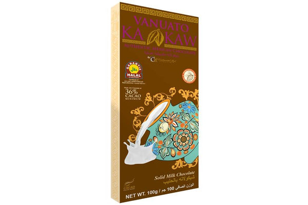 Vanuato Kakaw Solid Milk Chocolate 100gm