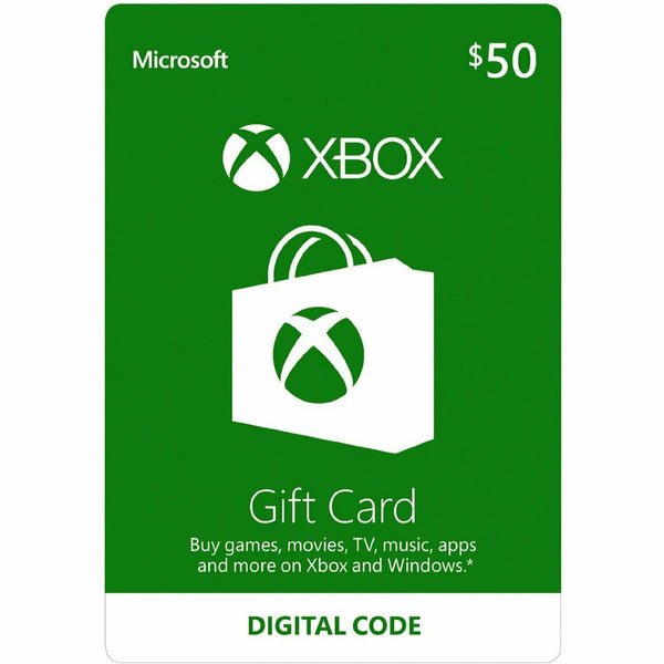 Xbox Live $50 US Dollar (USD) - Account details will be sent via email within 24 - 48 hours. Prepaid Only - 2071MALL