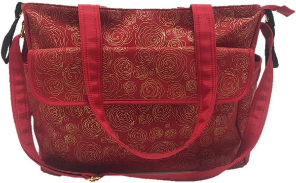 Summer Infant Messenger Changing Bag Red/Gold Swirl