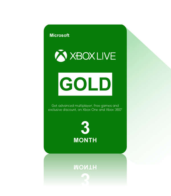 Xbox Live Gold 3 Month USA- Instant Delivery (Prepaid Only) - 2071MALL