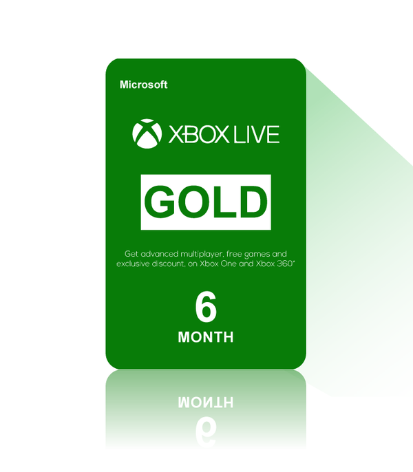 Xbox Live Gold 6 Month Canada- Instant Delivery (Prepaid Only) - 2071MALL