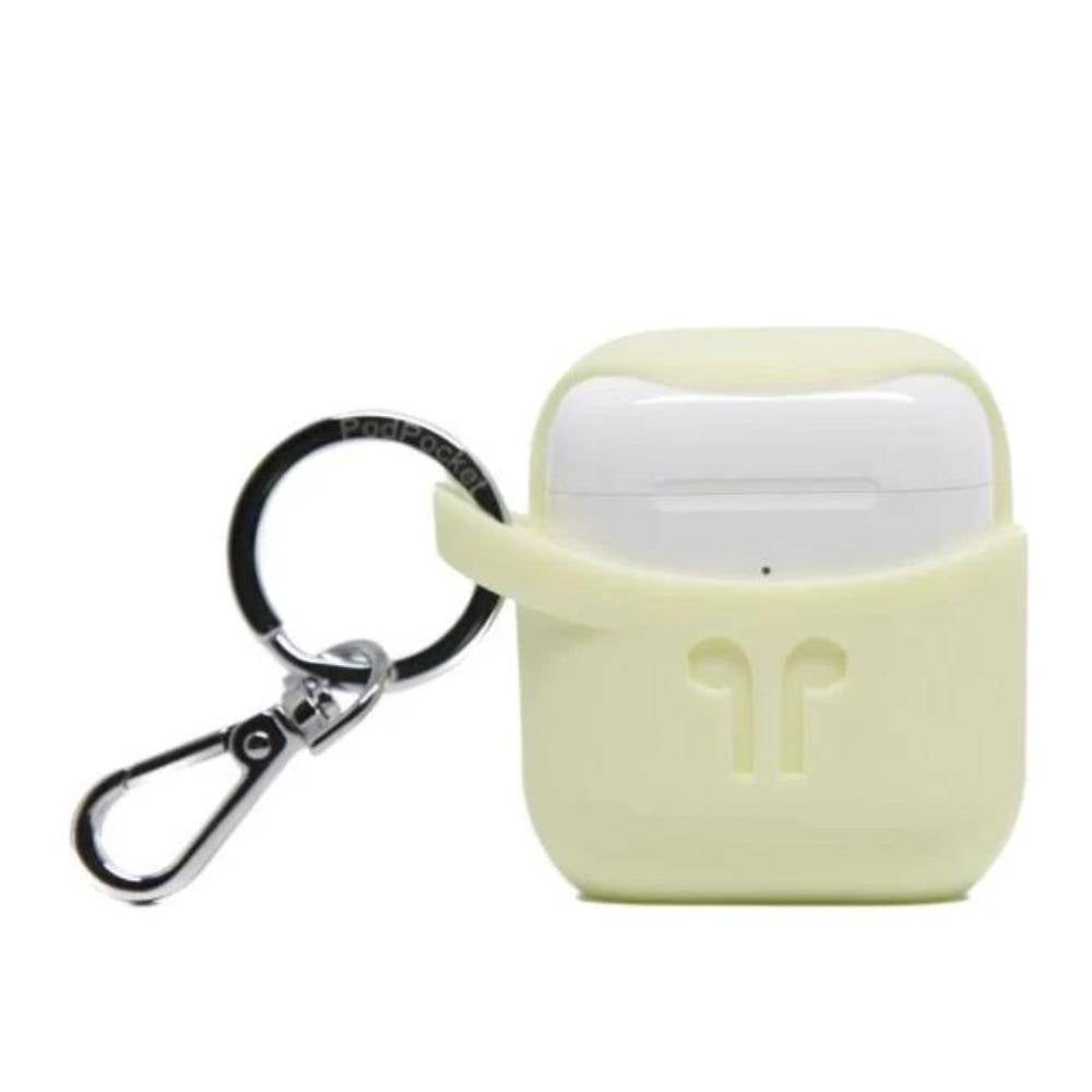 Pod Pocket - Silicone Case for Apple Airpod - Scoop Collection - Mellow Yellow, PP-1041-YELLOW - 2071MALL