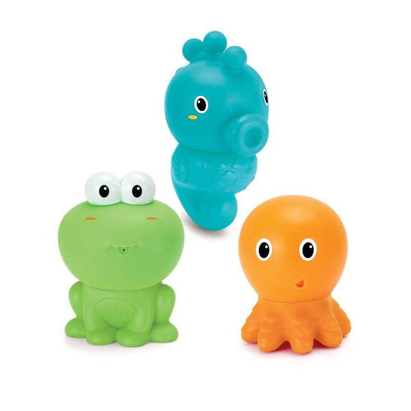 Infantino -Easy Clean Bath Squirters With Clipstrip