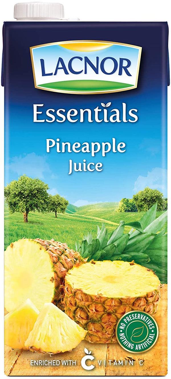 Lacnor Essentials Pineapple Juice - 1 Litre (Pack of 4) - 2071MALL