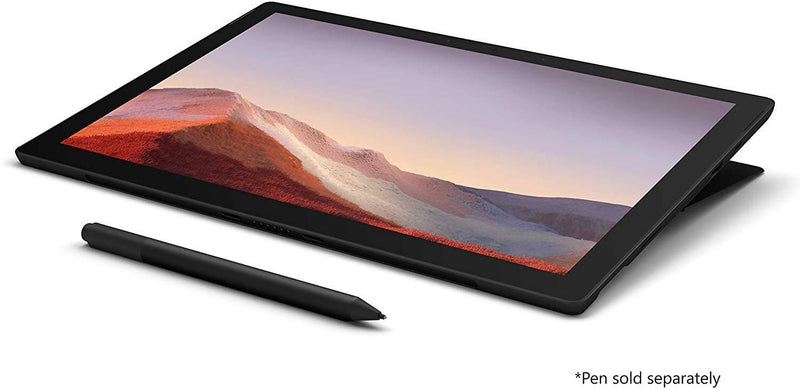 Microsoft Surface Pro 7 Intel Quad Core i7 10th Gen I7-1065G7 1.3Ghz, 16GB, 512GB SSD, 12.3-2736 x 1824, 2 Front Camera 5.0 MP, Bluetooth, Intel Iris Plus Graphics, Windows 10 Pro, Black - 2071MALL