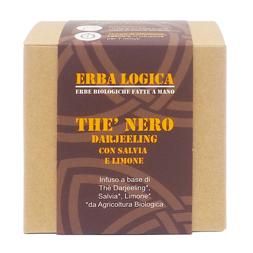The nero biologico con salvia e limone scatola da quindici filtri