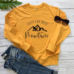 Faith Can Move Mountains Christian Hoodie yellow