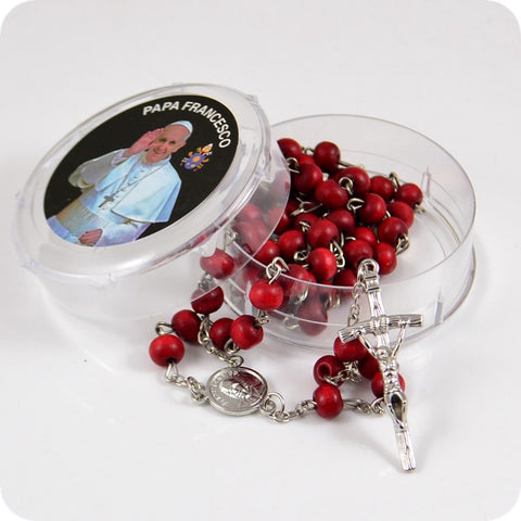 Pope Francis </br> Wood Rosary