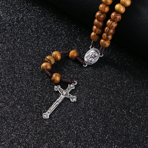 Wood Cross Rosary