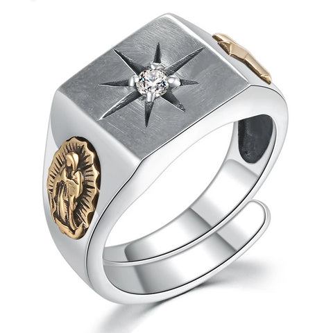 Cross Virgin Mary Ring