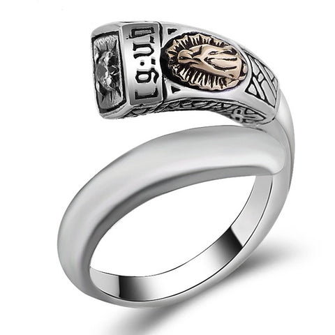 Zircon Virgin Mary Sculpture Ring