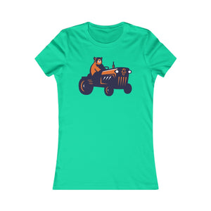Country Herald Training Camp Bear Football on Tractor Women's Favorite Tee