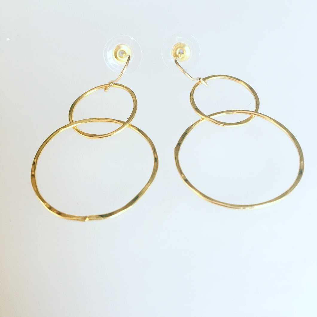 Hoops demi gold