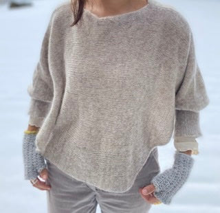 Flax. ponchosweater