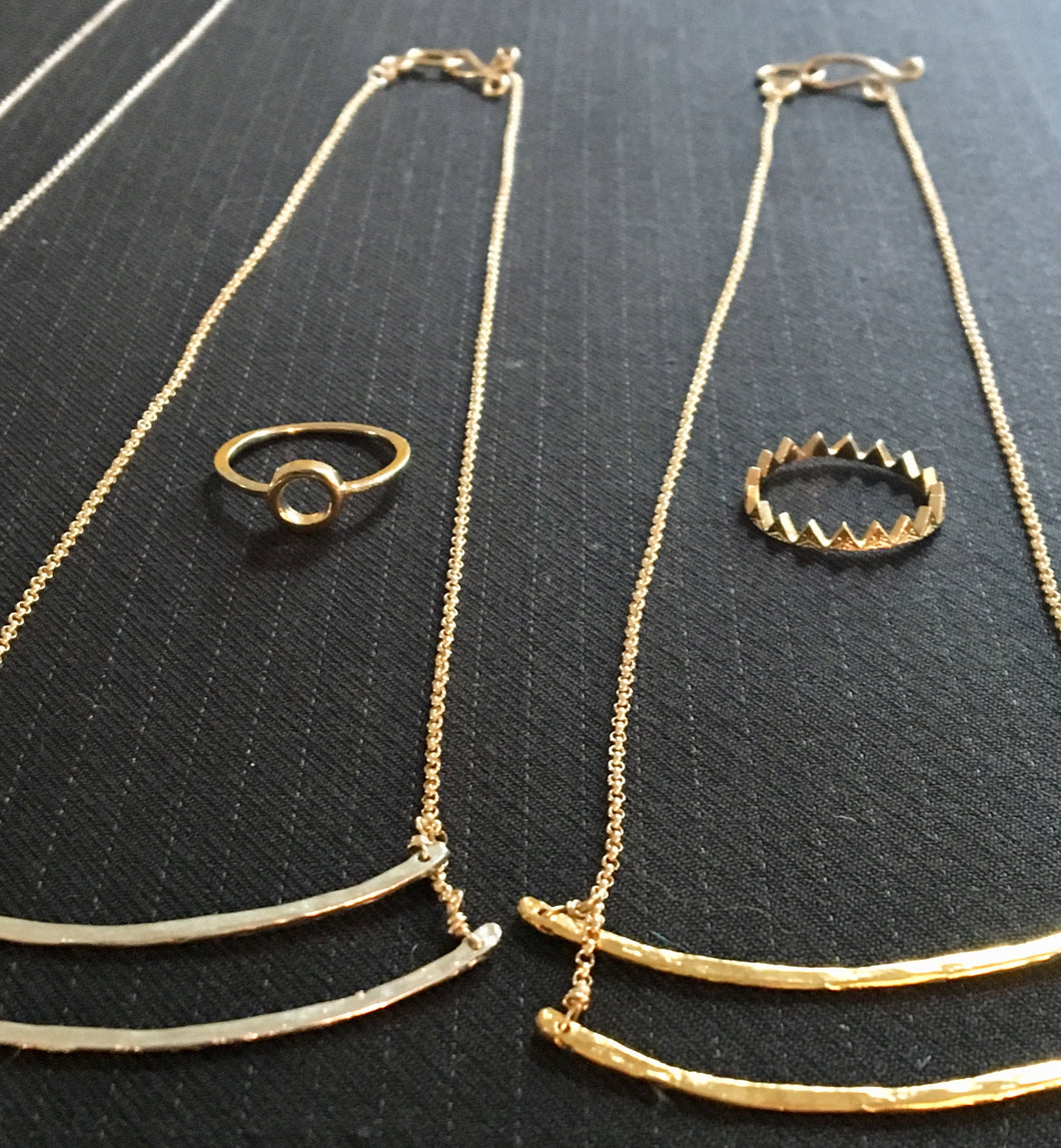 bars 2 sterling silver/ gold