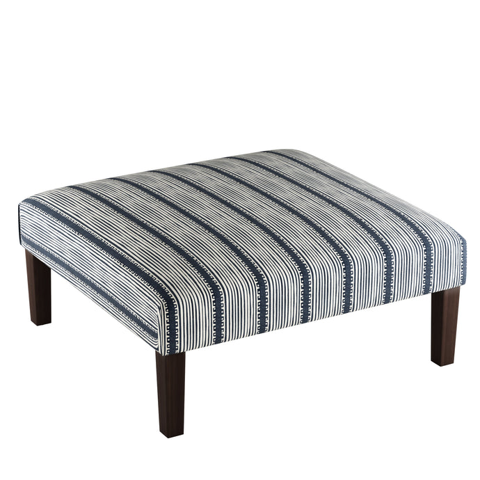 Bennett Stripe Cocktail Ottoman