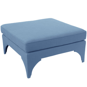 Periwinkle Cocktail Ottoman