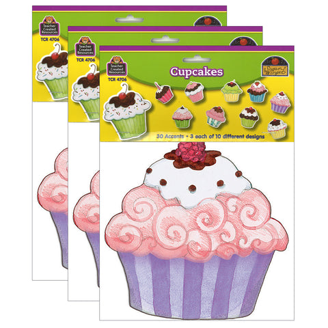 (3 Pk) Sw Cupcake Accents