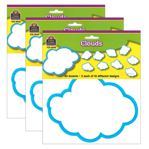 (3 Pk) Clouds Accents