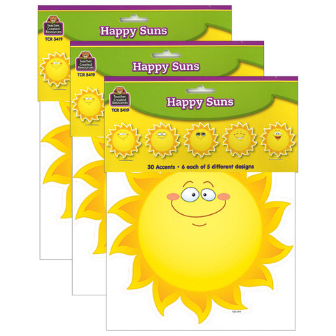 (3 Pk) Happy Suns Accents