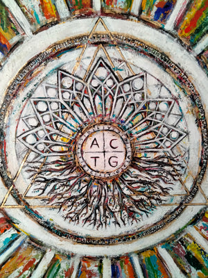"The Creation "" Day 6- ADN "" by Eunice Gall, Originalgemälde"