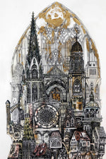 """ Kathedrale 2 "",by Eunice Gall, Originalgemälde"