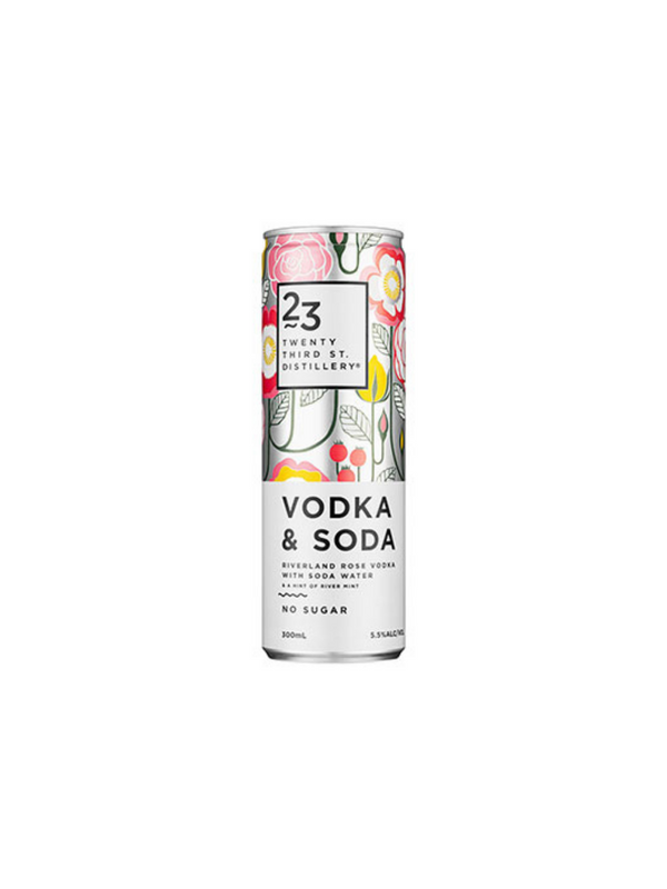 Add-On: 23rd Street Distillery Vodka & Soda