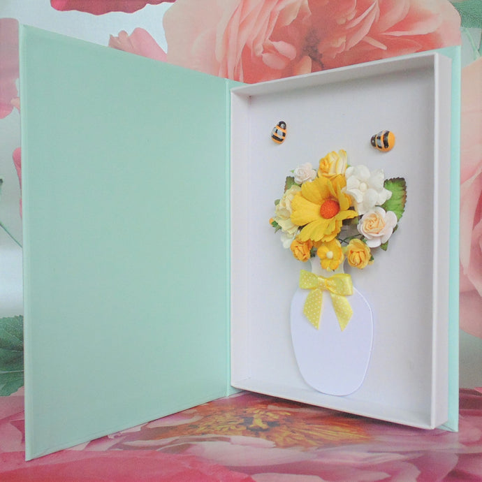 New Flower Card **Bumble Bees**