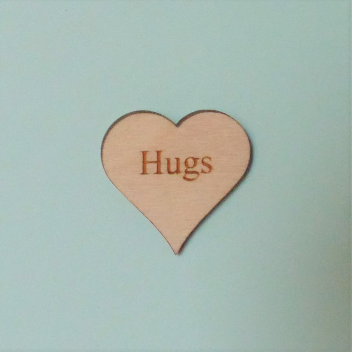 Limited edition 'Hugs' card