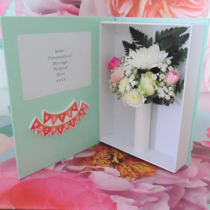 A wonderful example of the words to use on your Mother's Day  Letterbox Flower Card