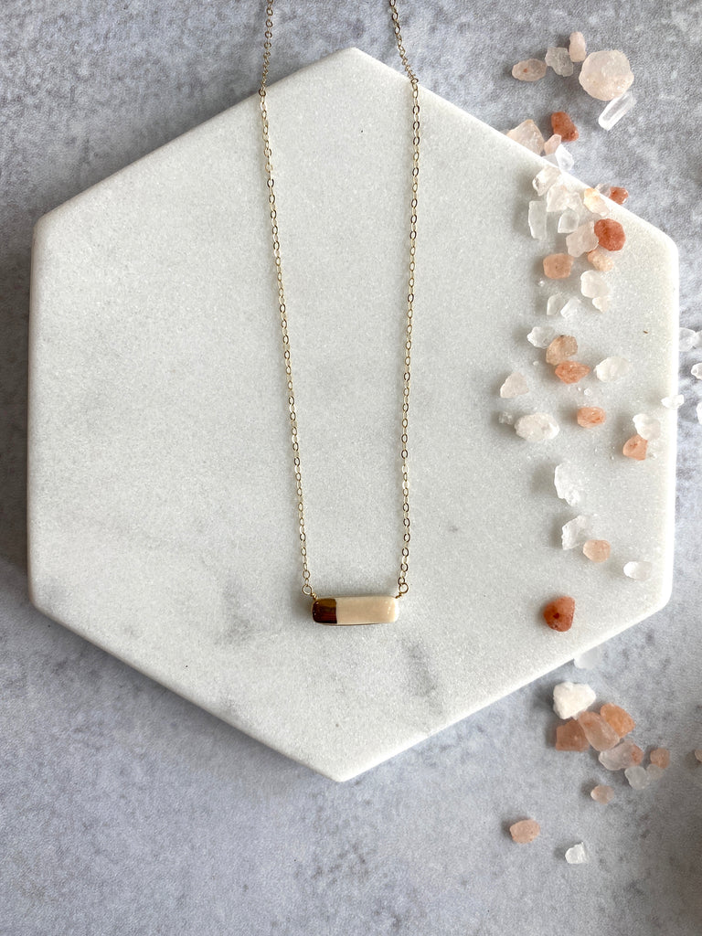 Teeny Reed Wrap Necklace