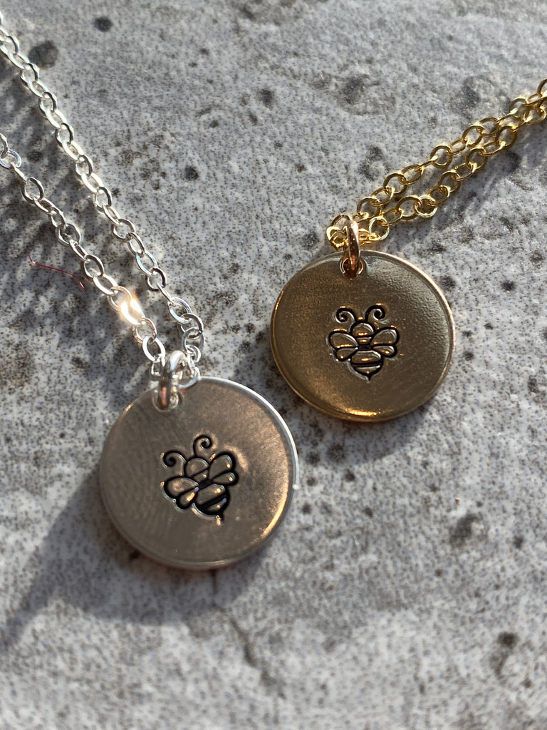 Bumblebee Disc Necklace