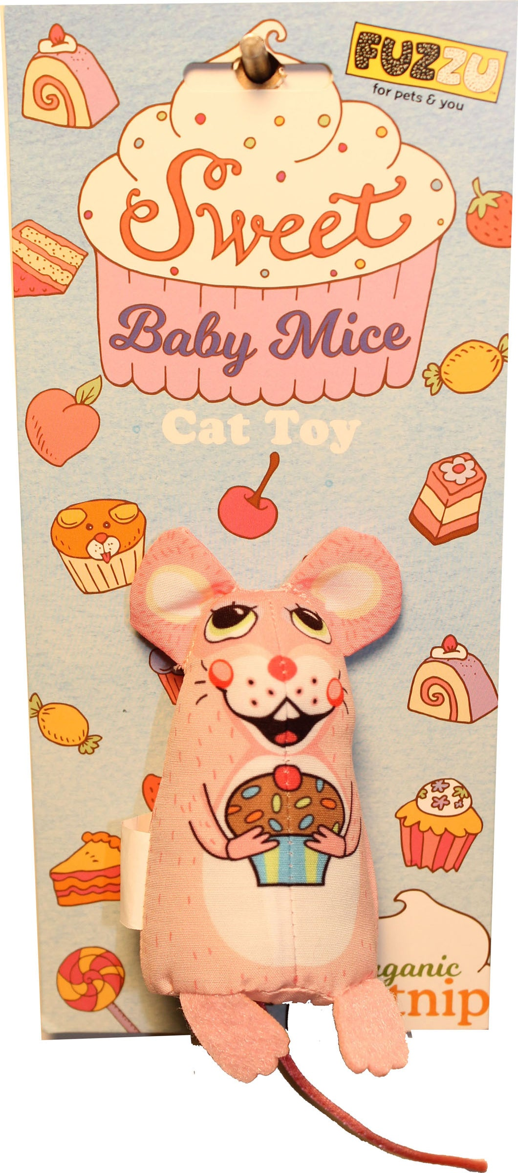 Sweet Baby Mice Cupcake Mouse Cat Toy