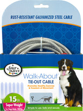 Load image into Gallery viewer, Four Paws Dog Tie Out Cable- Super Weight
