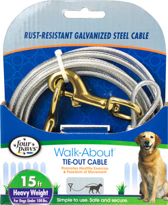 Four Paws Dog Tie Out Cable- Heavyweight