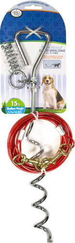Four Paws Walk About Combo Stake With Cable