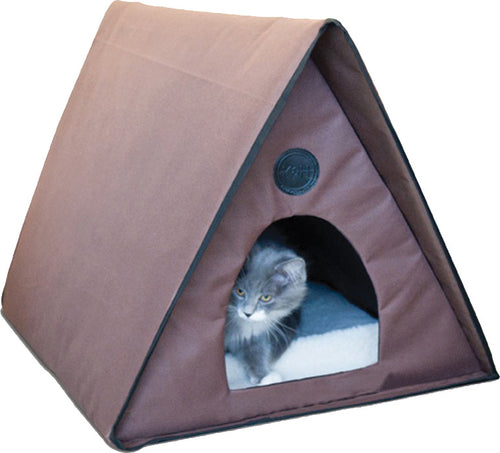 Outdoor Heated Multi-kitty A-frame