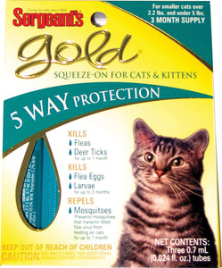 Sergeants Gold Squeeze-on For Cats