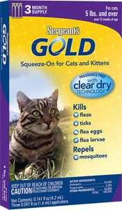 Gold Squeeze-on For Cats