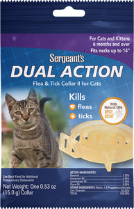 Sergeants Dual Action Flea & Tick Collar For Cats