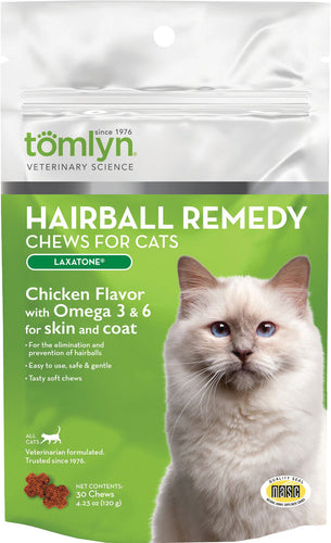 Laxatone Hairball Remedy Chews For Cats