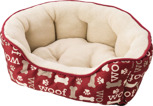 Sleep Zone Woof Scallop Shape Bed
