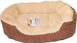 Sleep Zone Carved Plush Bed