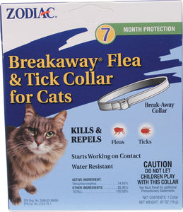 Zodiac Flea & Tick Breakaway Collar For Cats