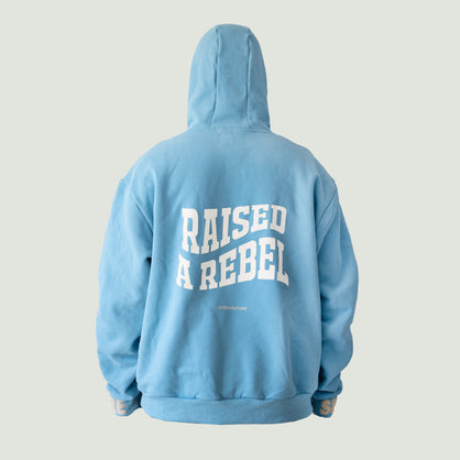 Raised A Rebel Essential Hoodie (Blue)