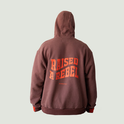 Raised A Rebel Essential Hoodie (Brown)