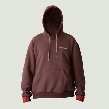 Raised A Rebel Essential Hoodie (Brown/3M Reflective)