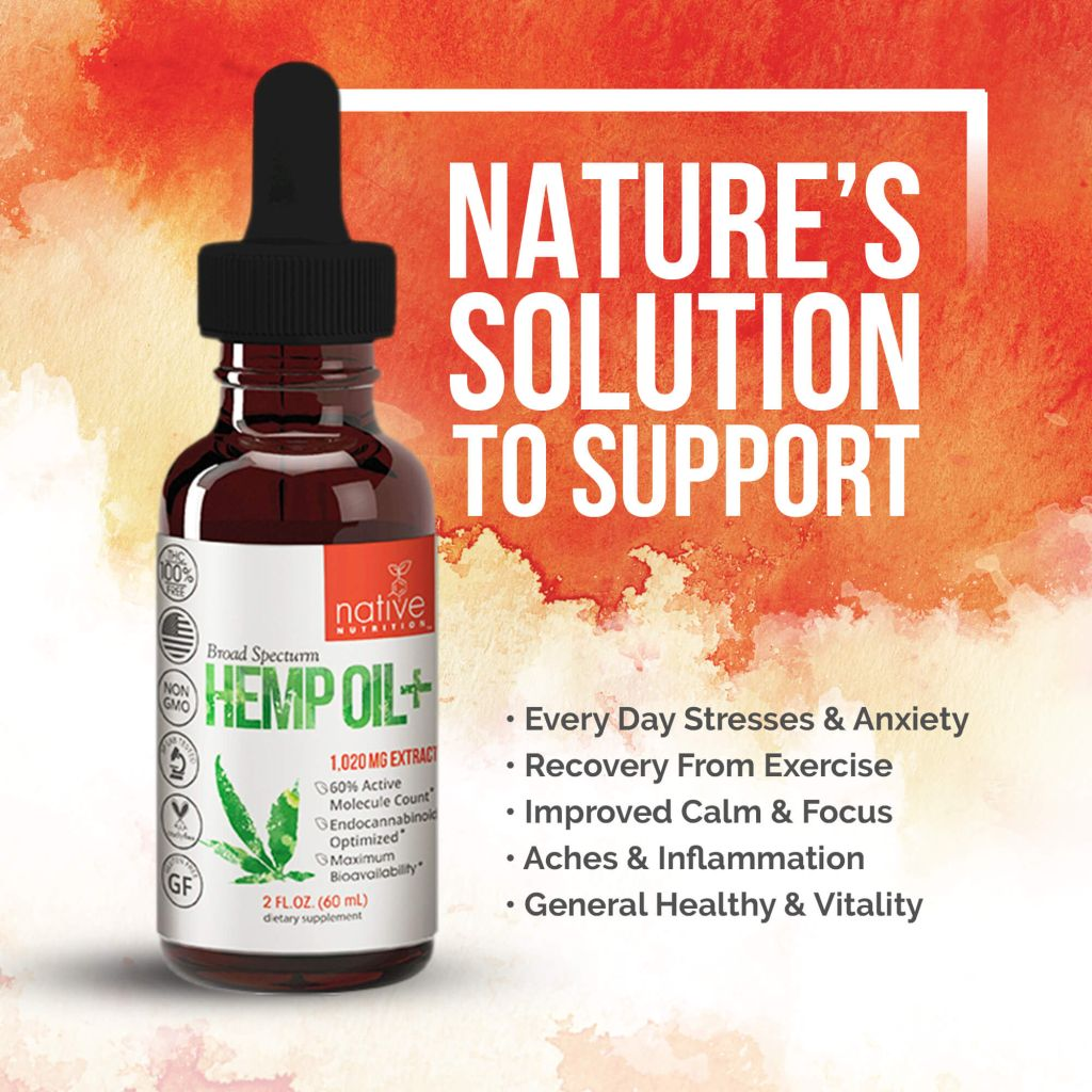 Broad Spectrum CBD Oil – 1000mg THC-Free Hemp Oil Extract