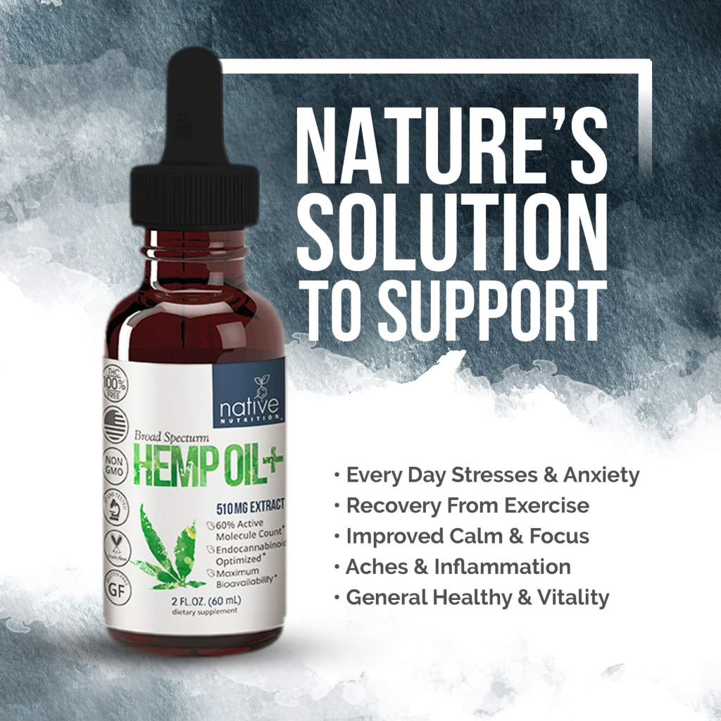 CBD oil 500mg - Broad Spectrum Cannabidiol - Native Nutrition