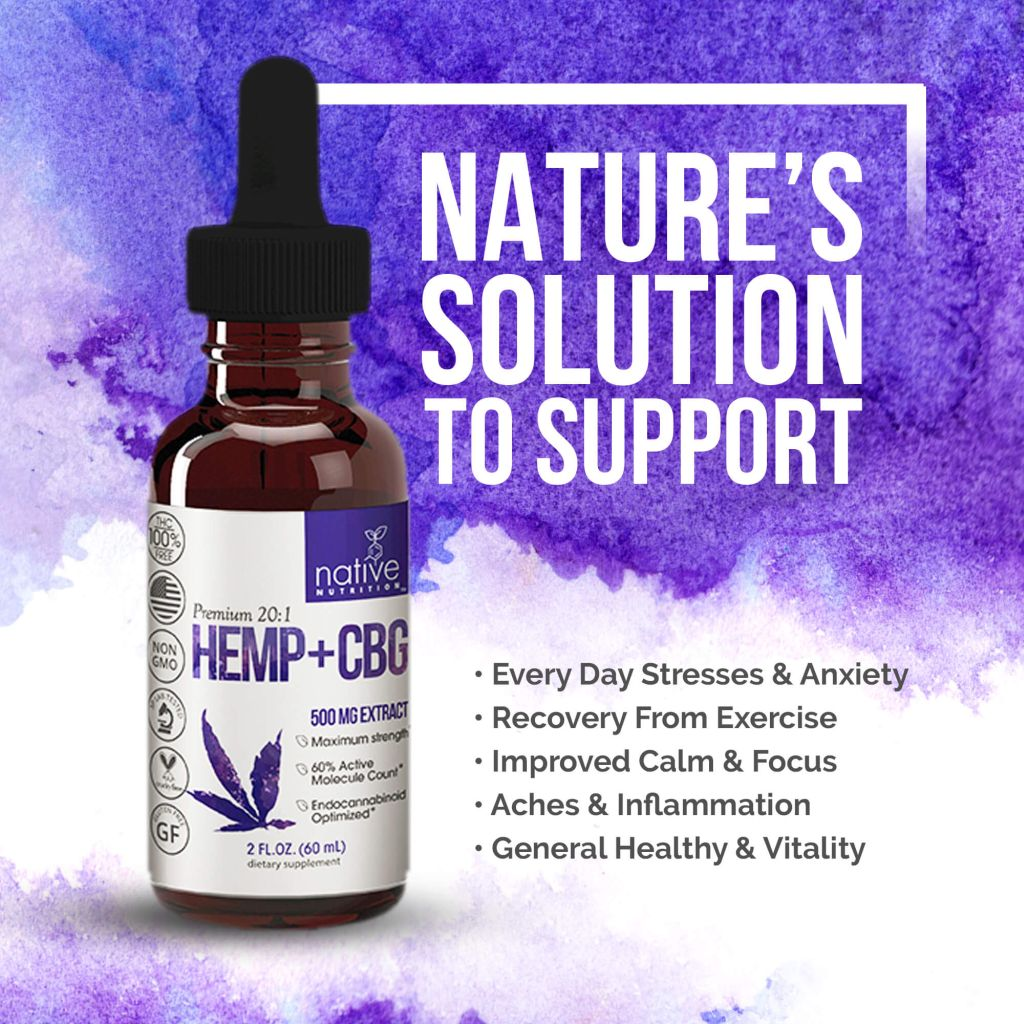 Broad Spectrum CBD Oil with CBG – 500mg THC-Free Hemp Oil Extract